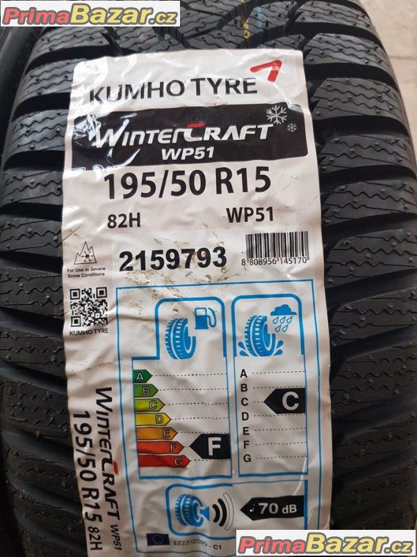 2xnove pneu Kumho tyre 1 wp51 195/50 r15 82h 14
