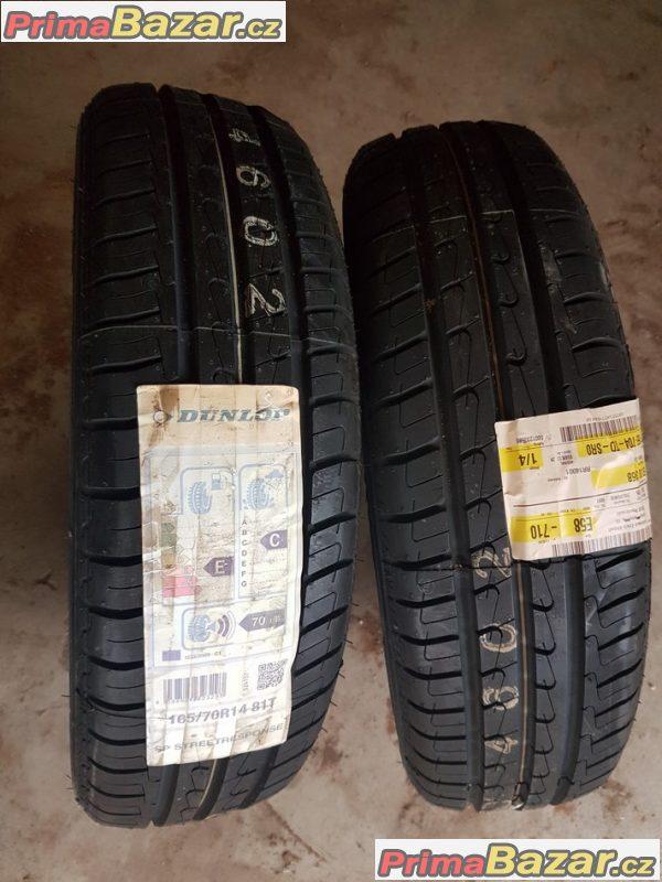 2xpneu nove Dunlop sp streetresponse 12 165/70 r14 81t
