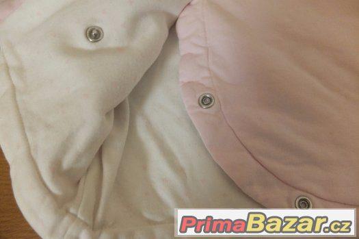 Oboustraná teplá mikina/bunda NEXT a semišová bílá mikinka