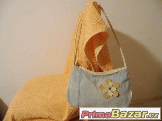 Dámská/dívčí kabelka v kombinaci džínoviny a umělé kůže