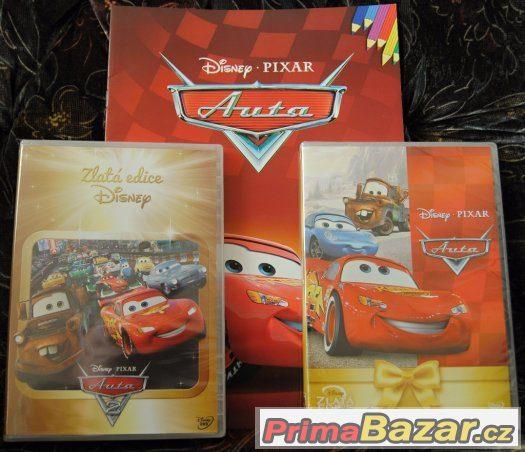 2 pohádky AUTA na DVD (úplně nové, originál zabalené)