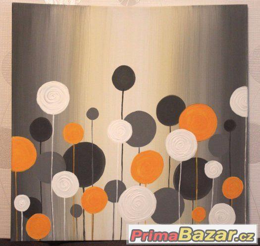 Akrylový obraz na plátně žlutý