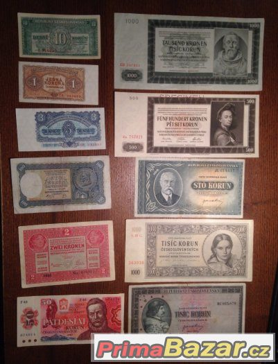 Sbírka staré bankovky 1919-1994 - 35kusů