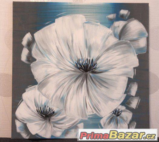 Akrylový obraz na plátně tyrkysový