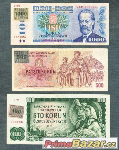 Staré bankovky - sestava 1961-1985 KOLEK