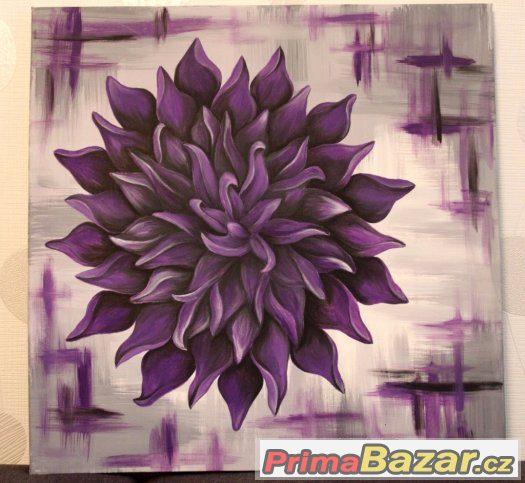 Akrylový obraz na plátně fialový