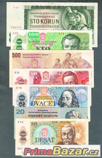 Staré bankovky sestava 1961-1987 - 7kusů