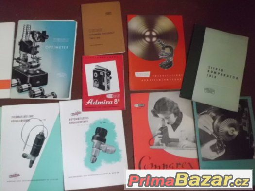 staré příručky,návody k mikroskopům,fotákům,teodolitům