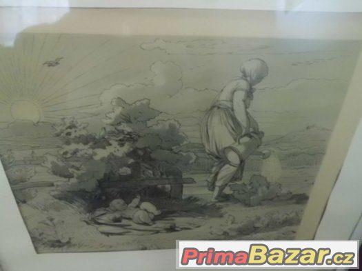 starý obraz - Josef Mánes - Písen Jitřní