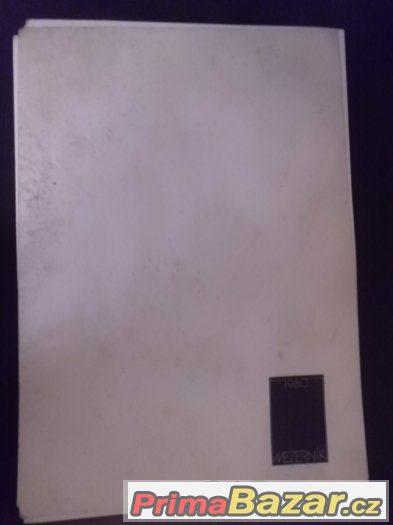 zajímavý umělecký starý kalendář - Mezerník 1980