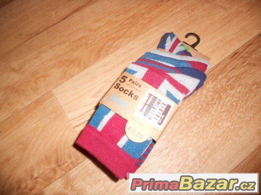 Prodám nové dětské ponožky - vel. 2-3 years (23-26, Primark)