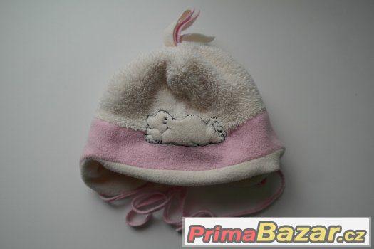 TEPLÉ zimní čepice y fleece-holka 2-3 roky-výběr
