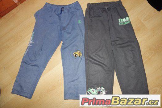 kalhoty, tepláky, zateplené vel 116