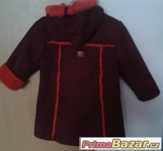 nadherny detky kabats kapuci na holku/110 za 420 Kc+posta