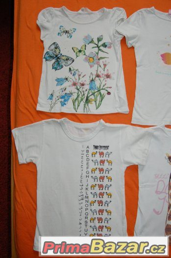 6x tričko krátký rukáv, vel. 110/116
