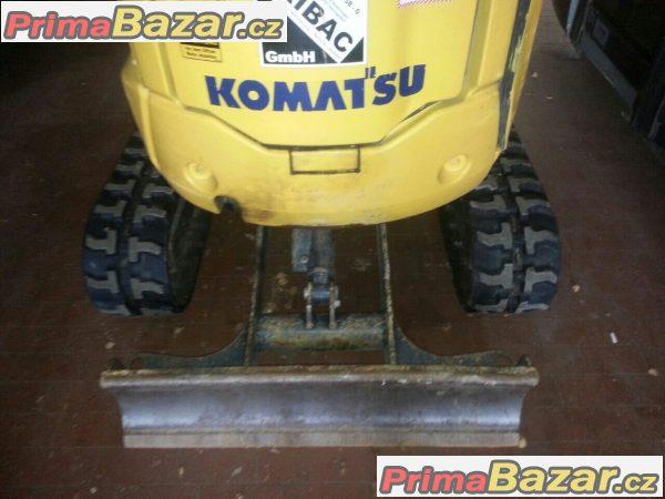 prodám zánovní pásový mini rýpadlo Komatsu PC14r 3HS r.v.2012