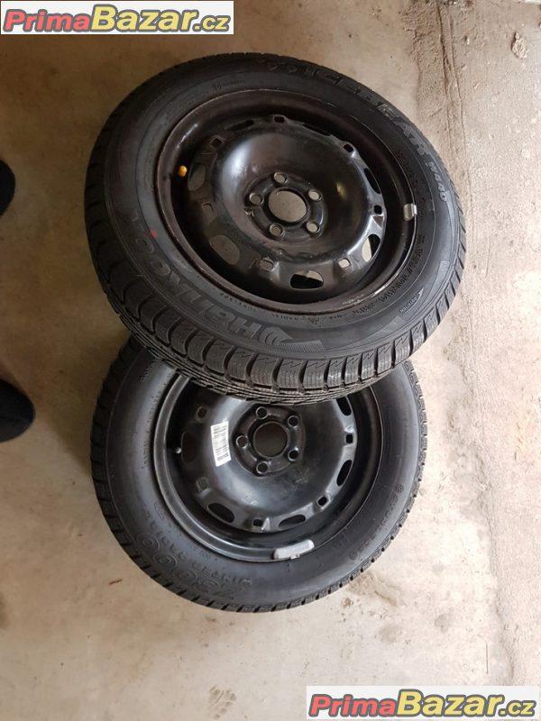 2xPlechove disky Škoda VW 5x100 5jx14 et35