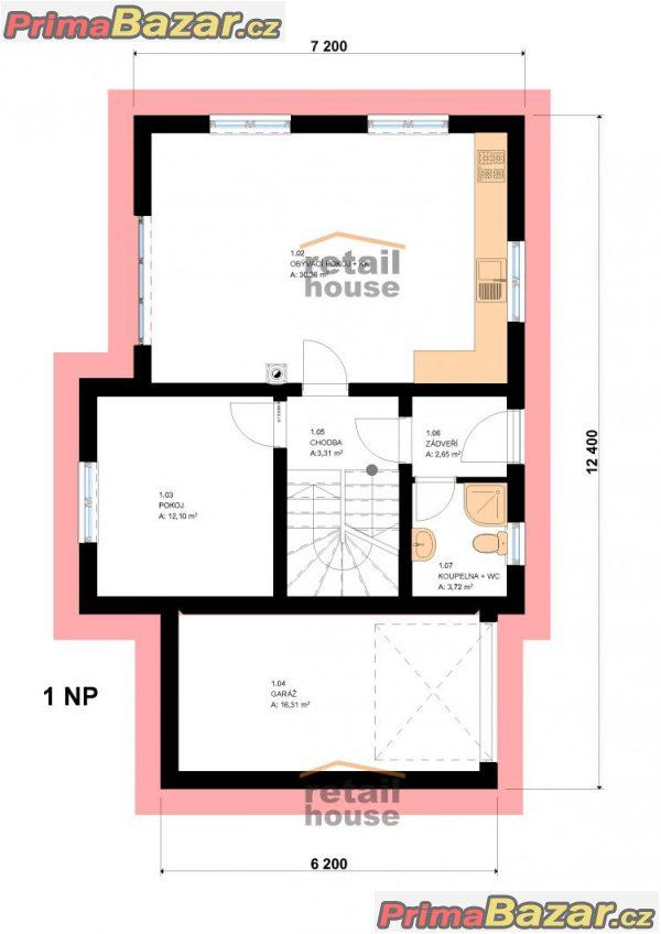 Rodinný dům Pegas Top Hit Plus, 5+kk+G, 124 m2