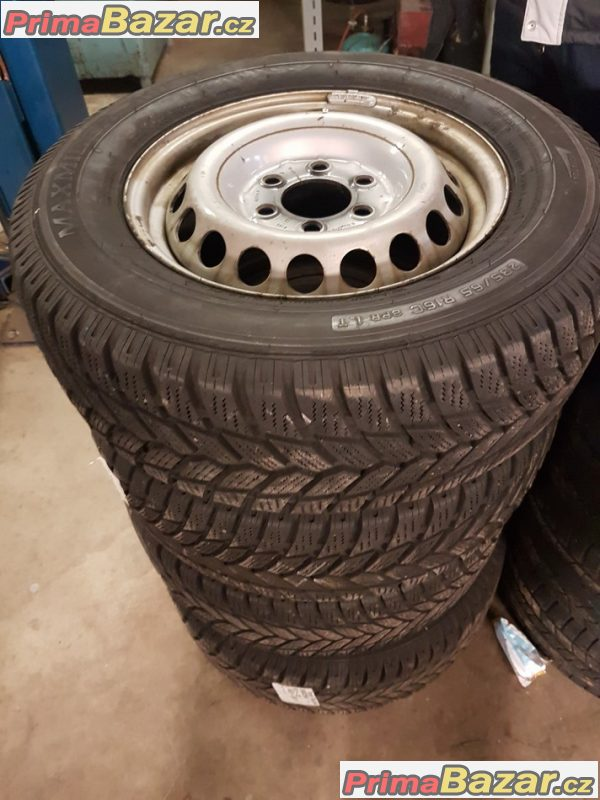 Plechove disky s pneu VW Craftr 6x130  6.5jx16 et62