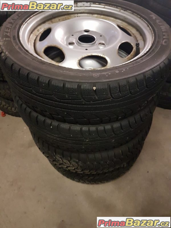 plechové disky Smart s pneu Bridgestone 3x112 5.5jx15 et22