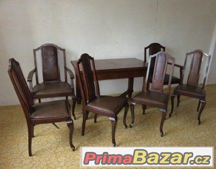 Starožitný stůl a židle
