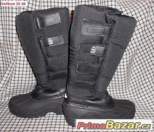 Jezdecké boty zimní dlouhé Pfiff Nové b00bd409dc