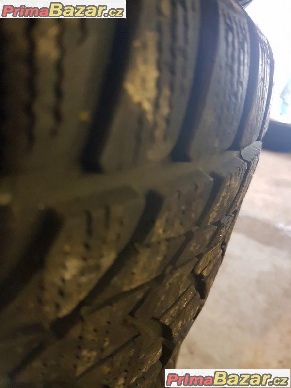 sada plechove disky Audi s pneu 2xmichelin a 2xdunlop 4D 8D0601027A 5x112 6jx16 et40
