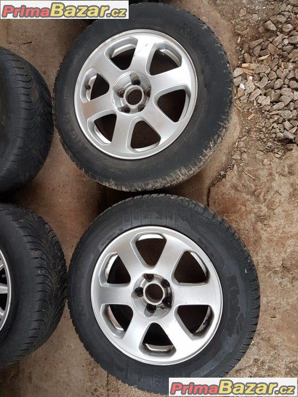 sada alu kola Škoda s pneu Kleber 1U0601025A 5x100 6.5jx15 et43