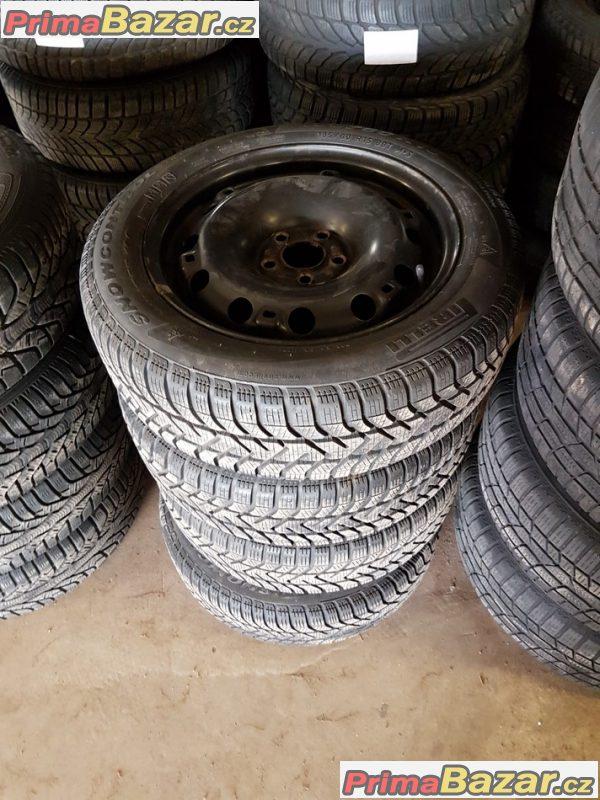 plechové disky s pneu Pirelli 190 80-70% vzorek 5x100 6jx15 et38