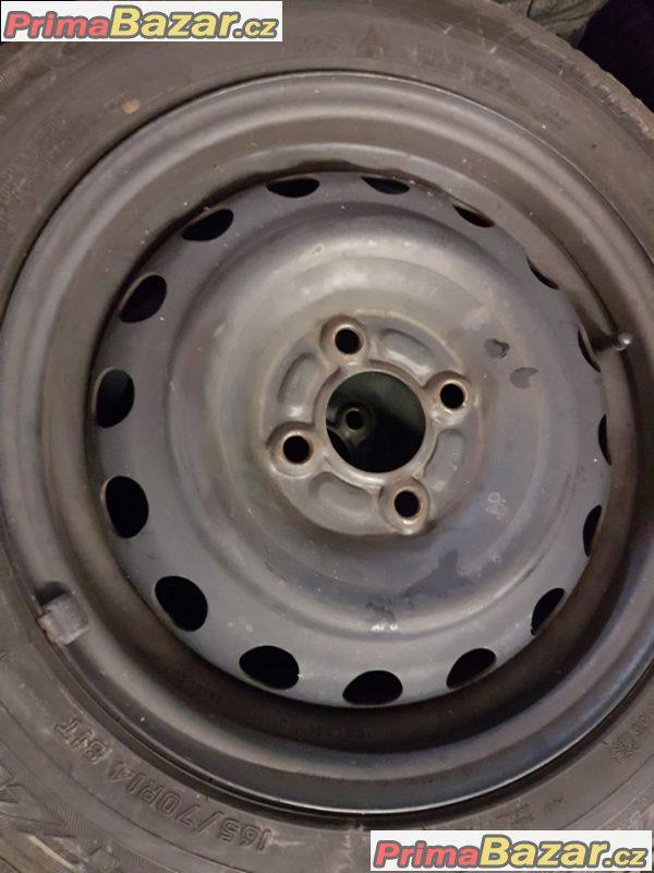 plechové disky s pneu Falken 1102L2SSW 4x100 5.5jx14