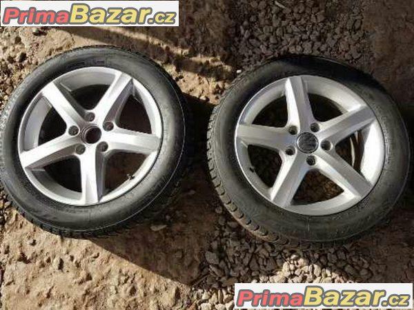 sada alu kola Volkswagen germ 3C B7 Eos s pneu Bridgestone 3AA071496 5x112 6.5jx16 et42