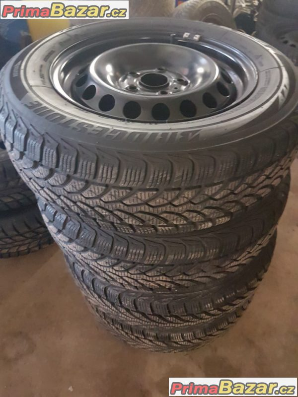 plechové disky s pneu Bridgestone lm32 bez koroze 1K0601027ag 5x112 6jx15 et47