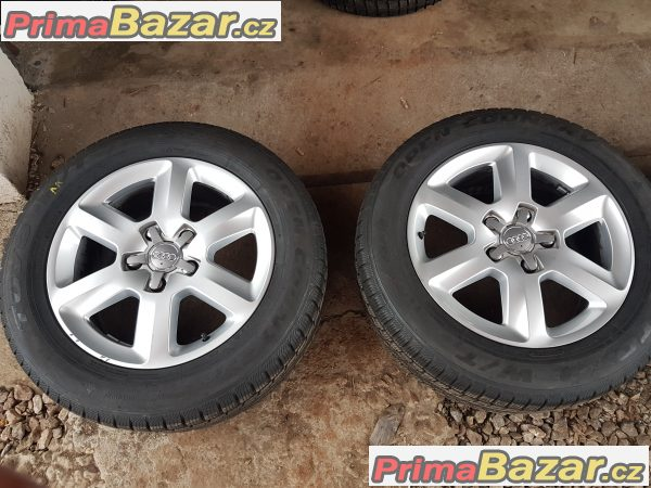 sada alu kola s pneu Audi Q7 s-line 4L0601025 bj 5x130 8jx18 et56