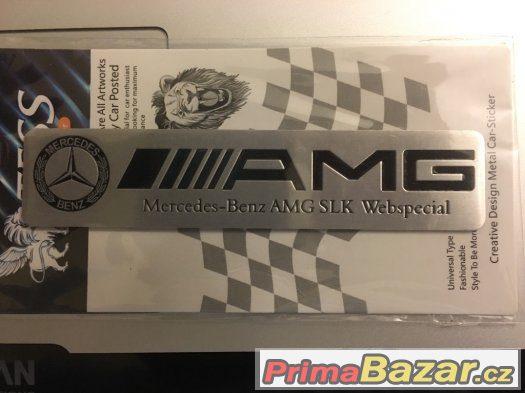 Hliníková samolepka Mercedes Benz AMG - nálepka