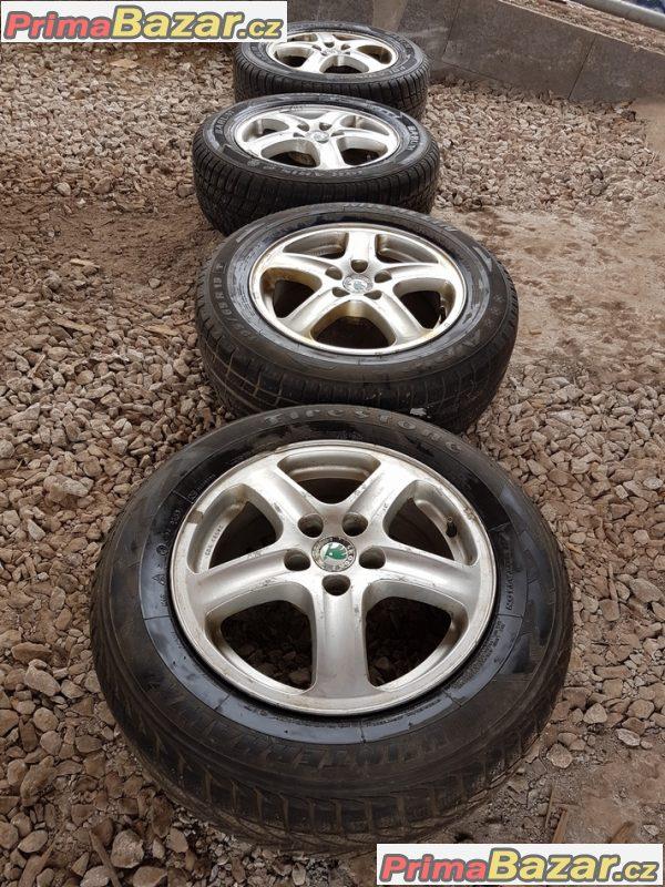 alu kola sada Škoda 1u0601025 ronal 5x100 6jx15 et38