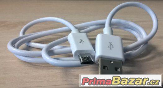 kabel USB - mikro 1m bílý, černý, svítící