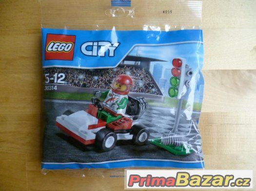 LEGO City 30314 Závod motokár
