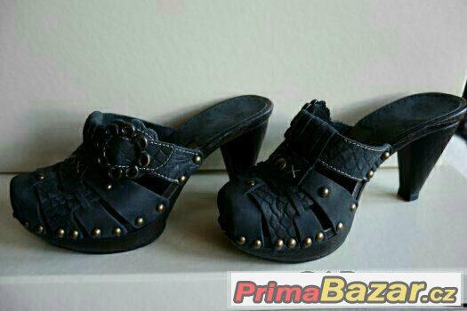 Dámské boty s podpatkem, kůže - EU36 NOVÉ