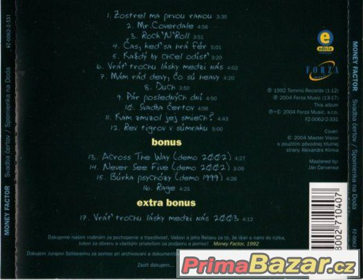Prodám CD - Money Factor - Svadba Čertov - Spomienka Na Doda