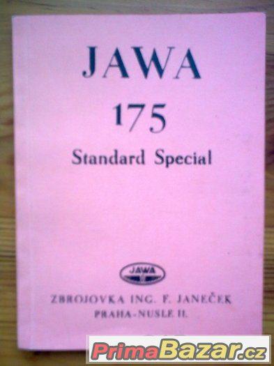 Příručka JAWA 175 Standard Special - Nabídka