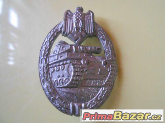 Tankový odznak panzerkampfabzeichen, stříbro - origoš