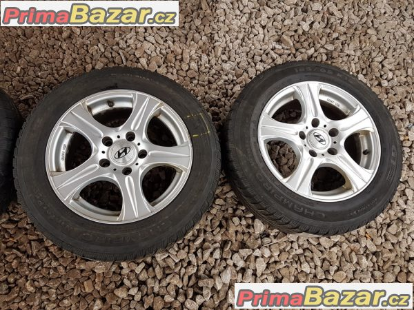 sada alu kola Hyundai 5x114.3 6.5jx15 et40 pneu Champiro gt 185/65 r15 88t zet 10 60% vzorek cena:4990