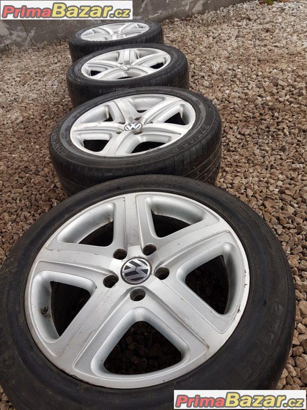 sada alu kola  Volkswagen Atheo s pneu 7L0601025D 5x130 9jx19 et60