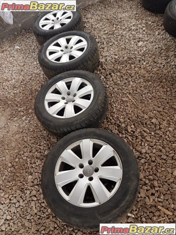 sada alu kola Audi s pneu Pirelli 4F0601025AN 5x112 7jx16 et42