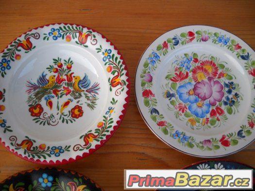 Malované talíře 4ks