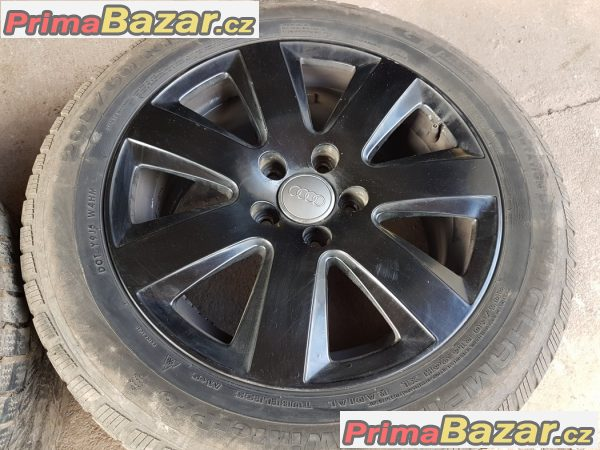 sada alu kola Audi s pneu Champiro černý lak 4F0601025AN 5x112 7jx16 et42