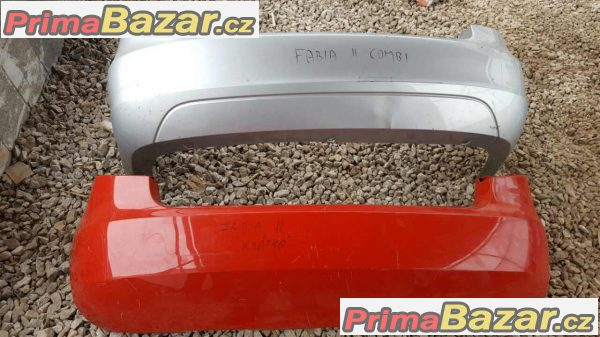 zadní nárazník Škoda Fabia 2 zadni combi a sedan