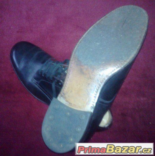 RETRO Pánské celokožené boty z r.1936. Skoro NOVÉ.Cca 41