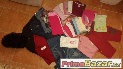 Balík oblečení na holčičku 4 - 6 let - 28 věcí - levně