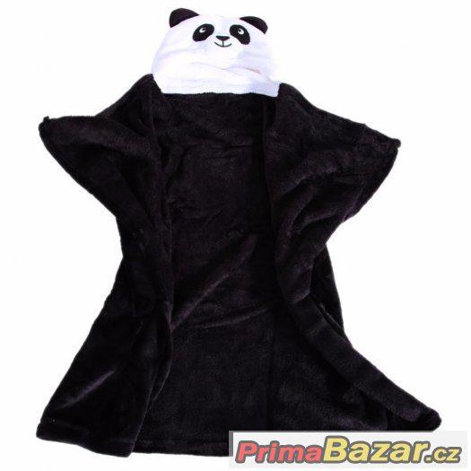 Dětská deka/župánek panda.